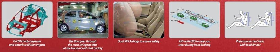 Honda Brio Safety Features