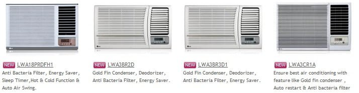 LG Window Air Conditioner Collection 1