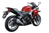 HONDA CBR 250R CANDY RUBY RED