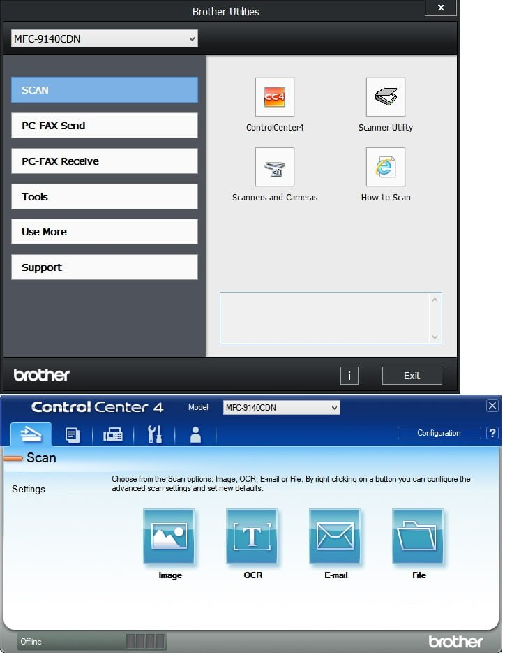 Brother Software User-Interface