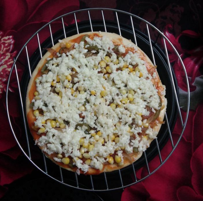 Pizza Prepared for Baking