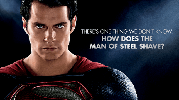 How does the Man of Steel Shave?