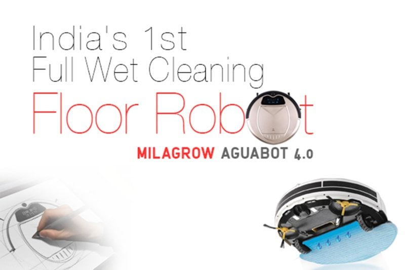 Milagrow AguaBot 4.0, World's 1st Full Wet Cleaning Floor Cleaning Robot