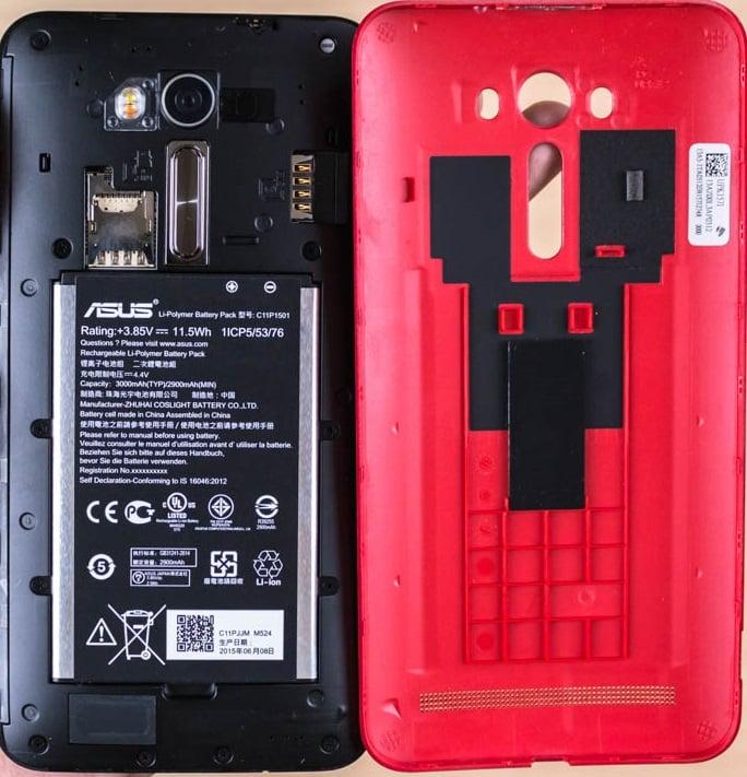 Asus Zenfone 2 Laser Opened