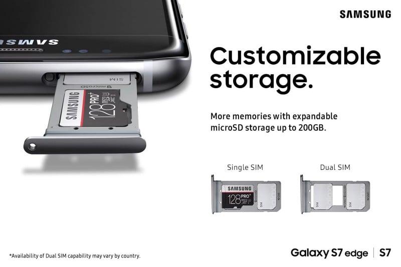 Galaxy S7 Hybrid SIM Slot