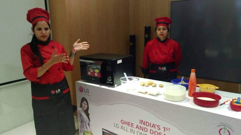 New LG Microwave Oven Which Can Make Ghee, Dosa, Paneer and Curd too