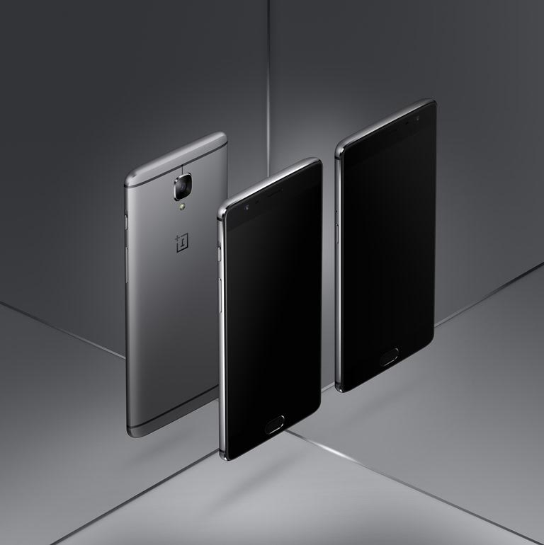 OnePlus 3 Front and Back