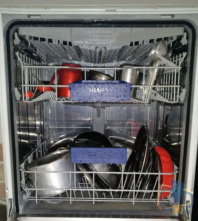 Siemens Dishwasher Opened