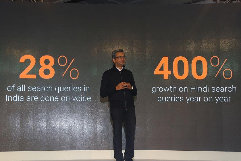 Rajan Anandan, VP, South East Asia talking about user statistics