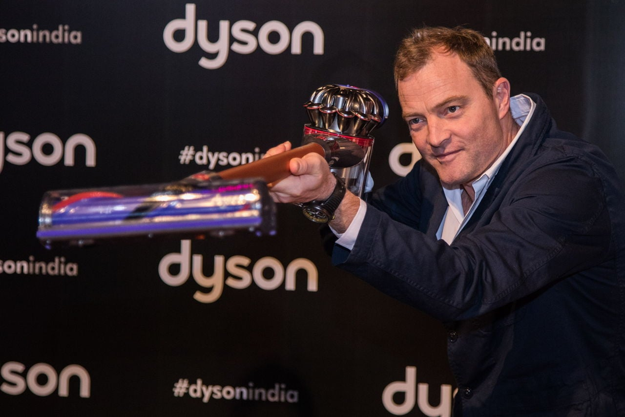 Jake Dyson, Chief Engineer and board member, at Dyson's India launch
