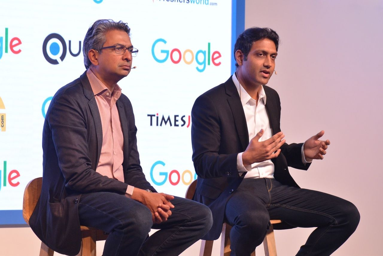 (L-R) Rajan Anandan, Vice President, Google India and SEA with Achint Srivastava, Software Engineer, Google Search