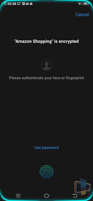 Vivo V11 Pro App Lock Prompt
