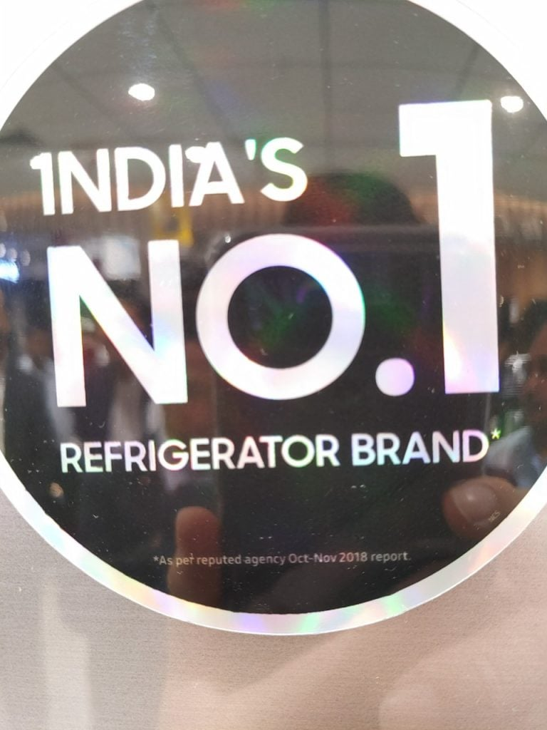 Not the No1 refrigerator brand