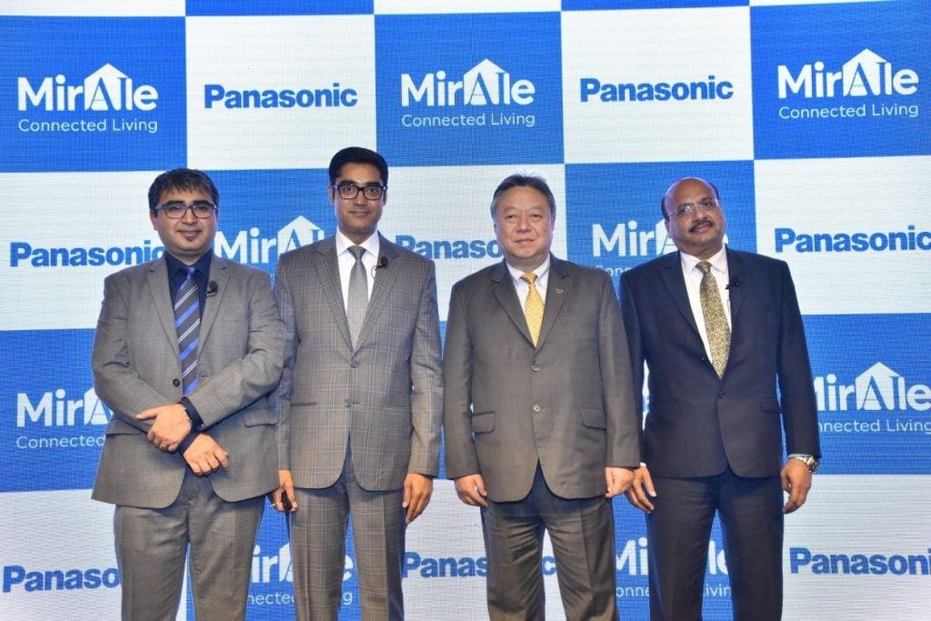Panasonic Connected Home Solutions Launch Event Mr. Manish Misra, Mr. Manish Sharma, Mr. Daizo Ito, Mr. Dinesh Aggarwal