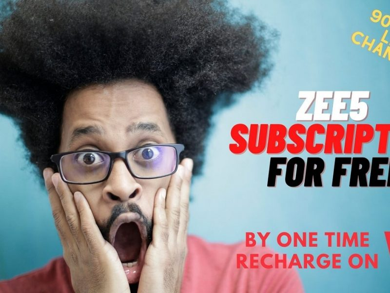 Get ZEE5 Subscription With 90+ LIVE Channels Access Free For a Year via this Vi OTT Plan!