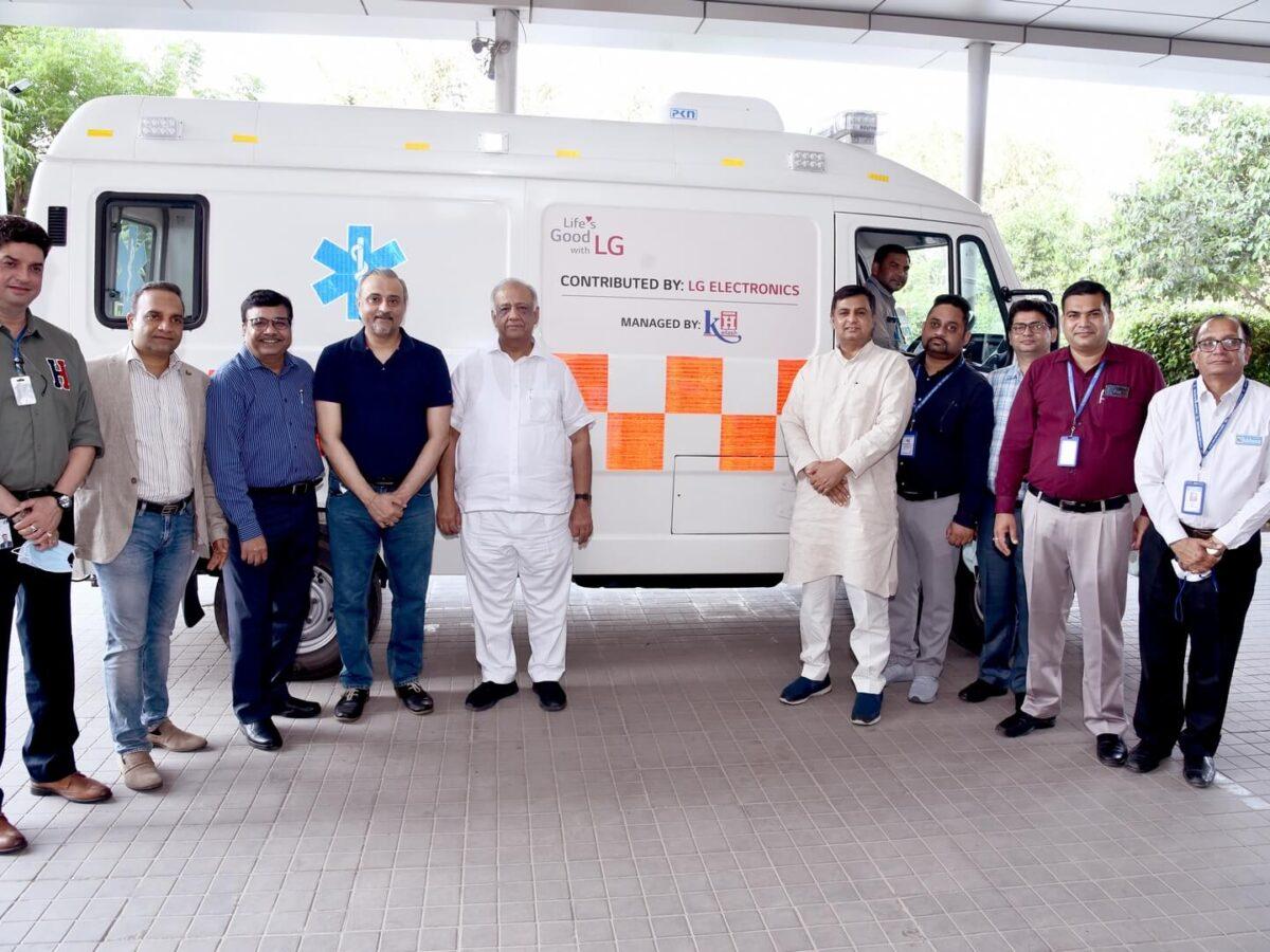 LG Donates Two Advance Life Support Ambulances To Kailash Hospital